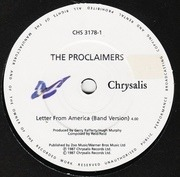7'' - The Proclaimers - Letter From America (Band Version) - Paper Labels