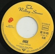 7'' - The Rolling Stones - Angie / Silver Train - picture sleeve