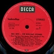 LP - The Rolling Stones - Big Hits (High Tide And Green Grass) - club edition