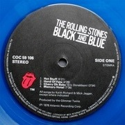 LP - The Rolling Stones - Black And Blue - blue vinyl