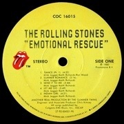 LP - The Rolling Stones - Emotional Rescue - no poster
