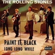 7'' - The Rolling Stones - Paint It, Black / Long Long While - picture sleeve