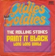 7'' - The Rolling Stones - Paint It Black / Long Long While - picture sleeve