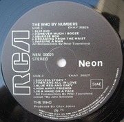 LP - The Who - By Numbers - original 1st italian