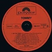 Double LP - The Who - Tommy - booklet