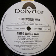 LP - Third World War - Third World War - Rare Promo
