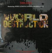 12inch Vinyl Single - Time Zone Featuring John Lydon & Afrika Bambaataa - World Destruction