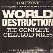 12inch Vinyl Single - Time Zone - World Destruction - FT. JOHN LYDON & AFRIKA & BAMBAATAA / RSD 2017