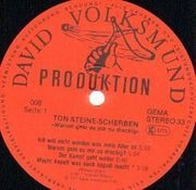LP - Ton Steine Scherben - Warum Geht Es Mir So Dreckig - +Poster, +Booklet