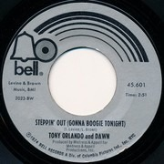 7inch Vinyl Single - Tony Orlando And Dawn - Steppin' Out (Gonna Boogie Tonight) / She Can't Hold A Candle To You