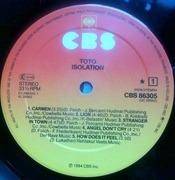 Isolation - Toto   LP   Recordsale