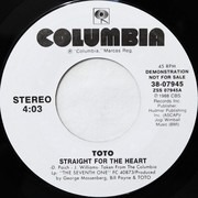 7inch Vinyl Single - Toto - Straight For The Heart