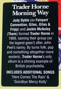 LP - Trader Horne - Morning Way - Ltd. Red vinyl