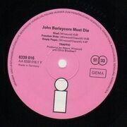 LP - Traffic - John Barleycorn Must Die - Original 1st German Pink Label