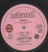 LP - Traffic - Traffic - Original 1st Scandinavian