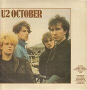 LP - U2 - October - Blue label