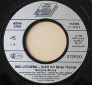 7inch Vinyl Single - Udo Jürgens & Belen Thomas - Sempre Roma