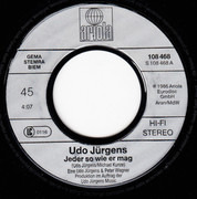 7inch Vinyl Single - Udo Jürgens - Jeder So Wie Er Mag