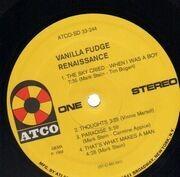 LP - Vanilla Fudge - Renaissance - ORIGINAL GERMAN