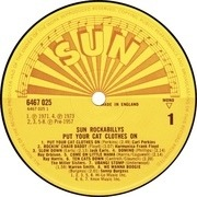 LP - Carl Perkins, Harmonica Frank Floyd, Jack Earls... - Sun Rockabillys - Put Your Cat Clothes On