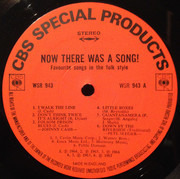 LP - Johnny Cash / Pete Seeger a.o. - Now There Was A Song