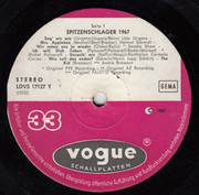LP - Udo Jürgens a.o. - Spitzenschlager 1967