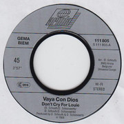 7inch Vinyl Single - Vaya Con Dios - Don't Cry For Louie