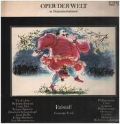 LP - Verdi (Karajan) - Falstaff (Querschnitt, ital.) - Black labels