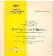 LP - Verdi/ Fischer-Dieskau, C. Ahlin, Radio-Symphonie-Orchester Berlin - Die Macht des Schicksals - tulip rim