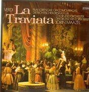 Double LP - Verdi - La Traviata,, Maazel, Deutsche Oper Berlin - gatefold