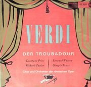 LP - Verdi, Leontyne Price, Richard Tucker, Leonard Warren,.. - Der Troubadour