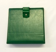 Vinyl Storage - Vintage Schallplattenalbum - In grün, für 16 Singles