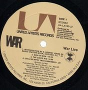 Double LP - War - War Live