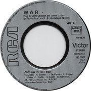 7inch Vinyl Single - War - Outlaw / Just Because