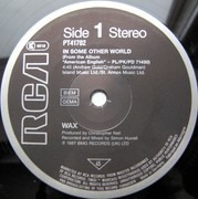 12inch Vinyl Single - Wax - In Some Other World