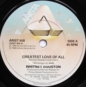 7'' - Whitney Houston - Greatest Love Of All
