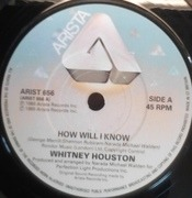 7'' - Whitney Houston - How Will I Know - Paper Labels
