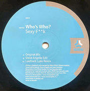 12'' - Who's Who? - Sexy Fk