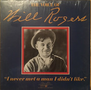 LP - Will Rogers - The Voice of Will Rogers