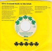 7inch Vinyl Single - Wings - Give Ireland Back To The Irish