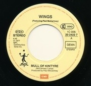 7'' - Wings Featuring Paul McCartney - Mull Of Kintyre