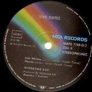 Double LP - Wishbone Ash - Live Dates