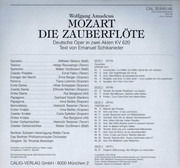 Double LP - Wolfgang Amadeus Mozart - Tiana Lemnitz , Helge Roswaenge , Gerhard Hüsch , Wilhelm Strienz , Berli - Die Zauberflöte