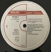 LP - Wolfgang Amadeus Mozart — Margaret Marshall , Iris Vermillion , Hans Peter Blochwitz , Radio-Sinfon - Davide Penitente