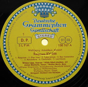 LP - Wolfgang Amadeus Mozart ‧ Wilma Lipp ‧ Hilde Rössel-Majdan ‧ Anton Dermota ‧ Walter Berry ‧ Wiener - Requiem KV 626