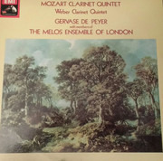 LP - Wolfgang Amadeus Mozart , Carl Maria von Weber , Gervase de Peyer , Melos Ensemble Of London - Clarinet Quintet