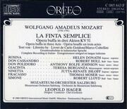 CD-Box - Wolfgang Amadeus Mozart - La Finta Semplice