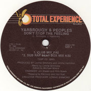 12'' - Yarbrough & Peoples - Don't Stop The Feeling