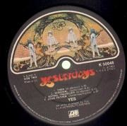 LP - Yes - Yesterdays - A1 B1 UK