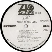 LP - Yes - Close To The Edge - PROMO STEREO USA
